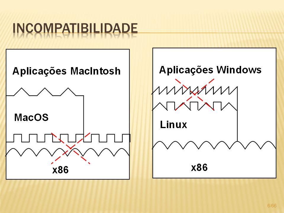 Facilitar o aperfeiçoamento e testes de novos sistemas operacionais; Auxiliar no ensino prático de sistemas operacionais e programação ao permitir a execução de vários sistemas para comparação no mesmo equipamento; 57/66