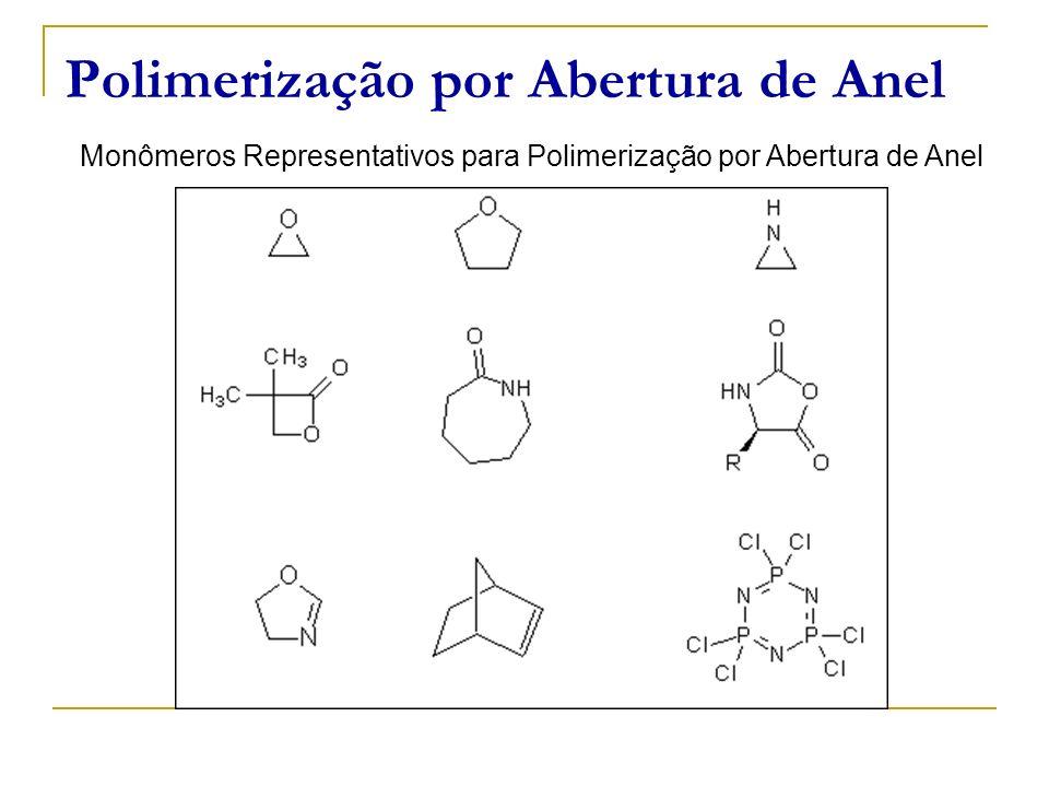 Monômeros Representativos para Polimerização por Abertura de Anel