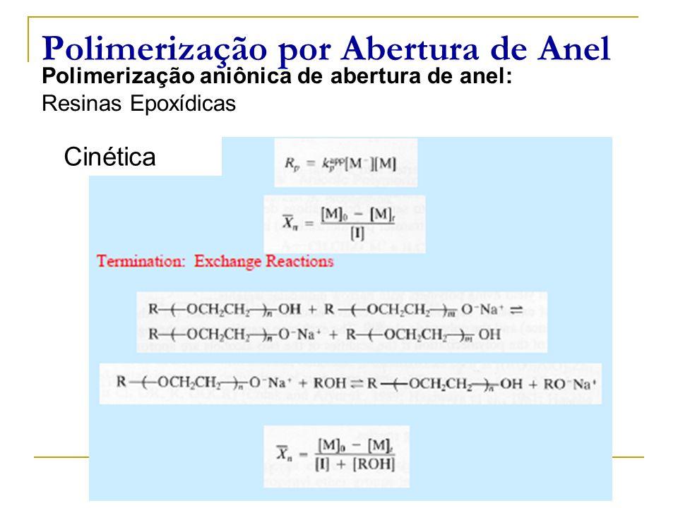 Polimerização por Abertura de Anel Polimerização aniônica de abertura de anel: Resinas Epoxídicas Cinética