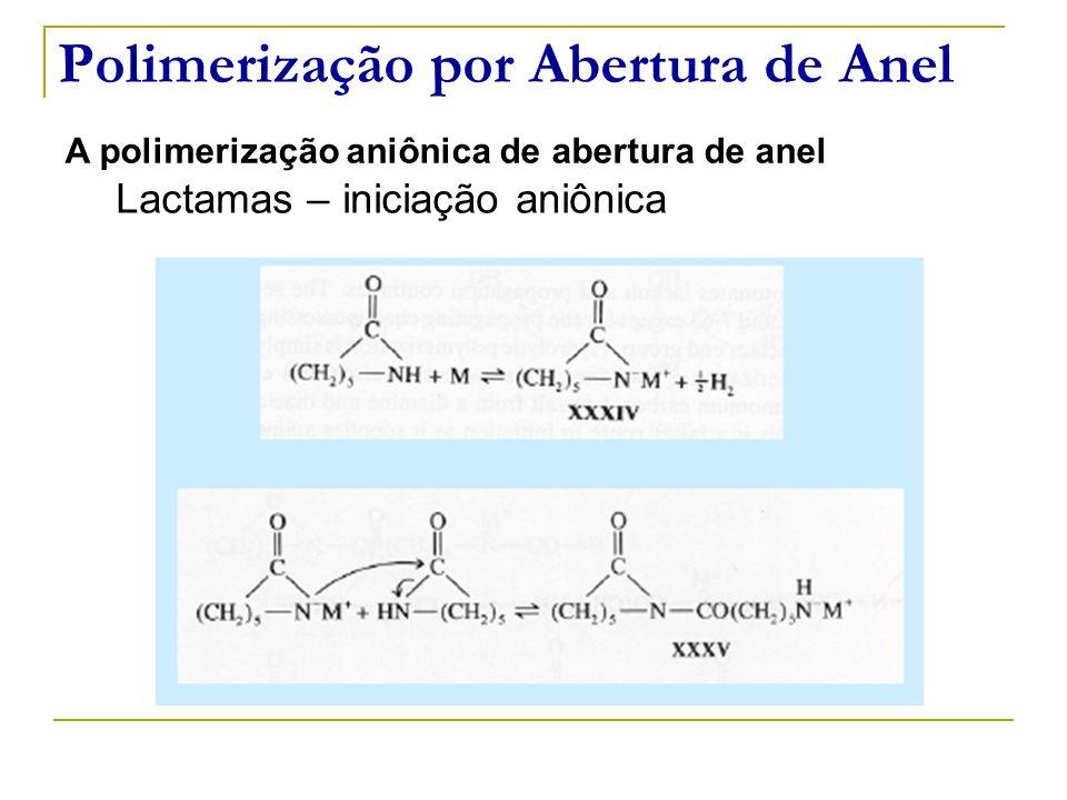 Polimerização por Abertura de Anel A polimerização aniônica de abertura de anel Lactamas – iniciação aniônica