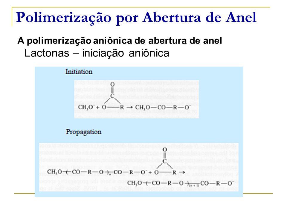 Polimerização por Abertura de Anel A polimerização aniônica de abertura de anel Lactonas – iniciação aniônica