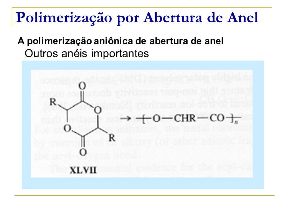 Polimerização por Abertura de Anel A polimerização aniônica de abertura de anel Outros anéis importantes