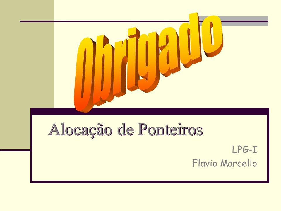LPG-I Flavio Marcello Alocação de Ponteiros