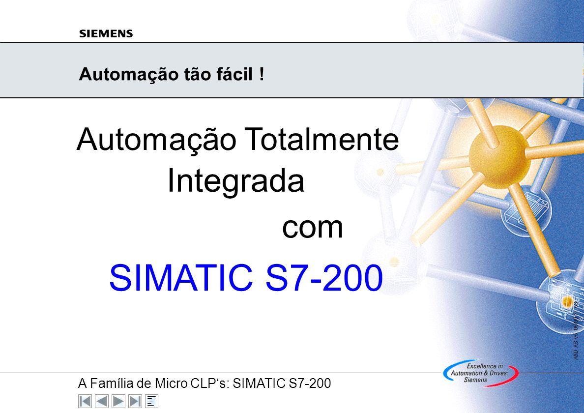 A Família de Micro CLPs: SIMATIC S7-200 A&D AS V5, 03/00 N° 52 Suas vantagens à primeira vista Serviços abrangentes Hotline 24-Horas (local e Internac