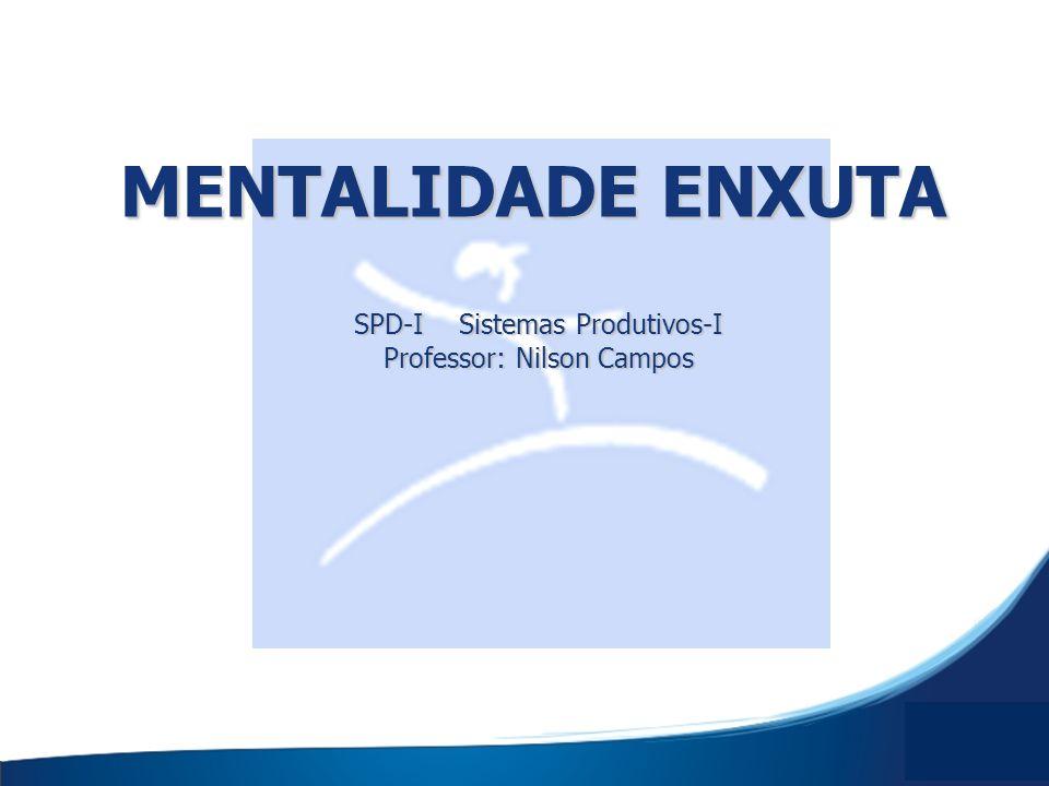 MENTALIDADE ENXUTA SPD-I Sistemas Produtivos-I Professor: Nilson Campos