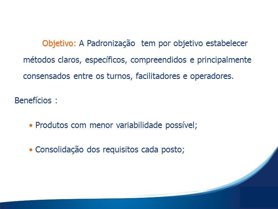 Objetivo: Objetivo: A Padronização tem por objetivo estabelecer métodos claros, específicos, compreendidos e principalmente consensados entre os turno