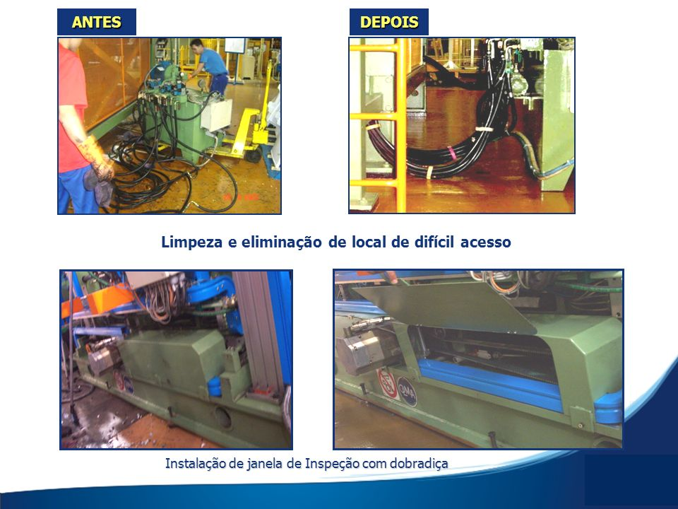 ANTESDEPOIS Instalação de janela de Inspeção com dobradiça Limpeza e eliminação de local de difícil acesso