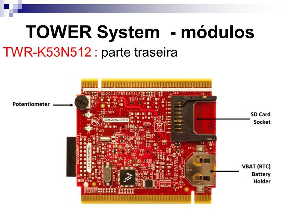 TOWER System - módulos TWR-K53N512 : parte traseira