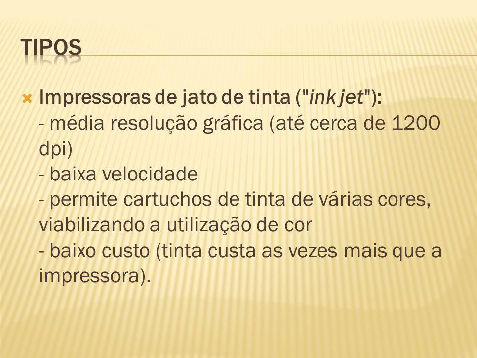 Impressoras de jato de tinta (