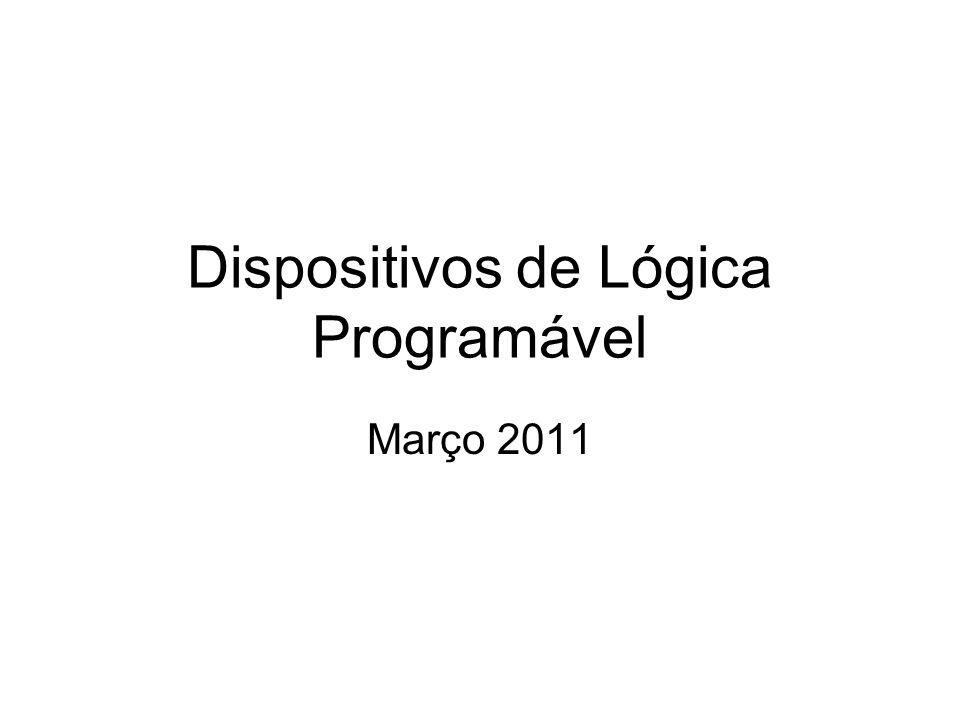 Dispositivos de Lógica Programável Março 2011