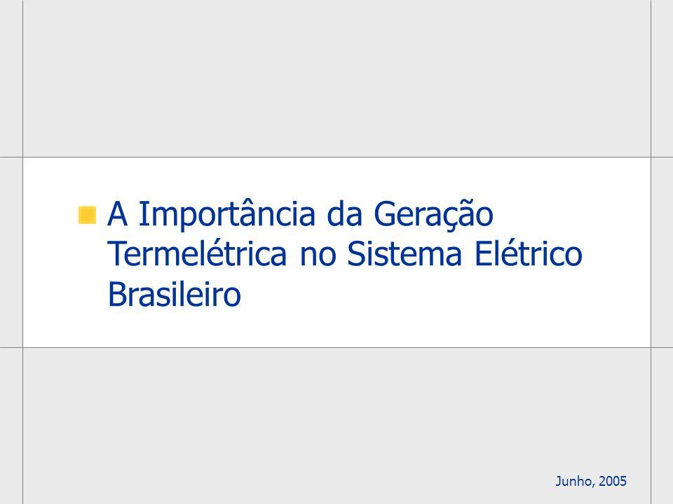1 A Importância da Geração Termelétrica no Sistema Elétrico Brasileiro Junho, 2005