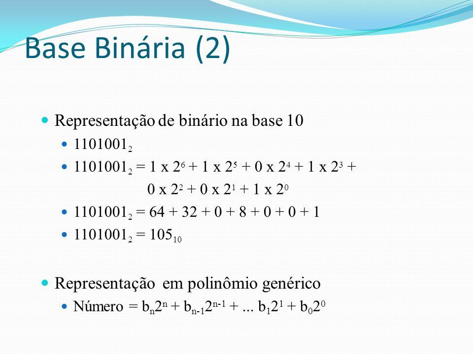 Representação de octal na base 10 54621 8 = 5 x 84 84 + 4 x 8 3 + 6 x 82 82 + 2 x 81 81 + 1 x 8080 54621 8 = 20480 + 2048 + 384 + 16 + 1 54621 8 = 22929 10 Representação em polinômio genérico Número = on8n on8n + o n-1 8 n-1 +...
