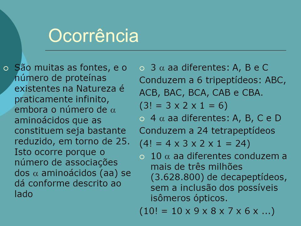 Ocorrência - aminoácidos