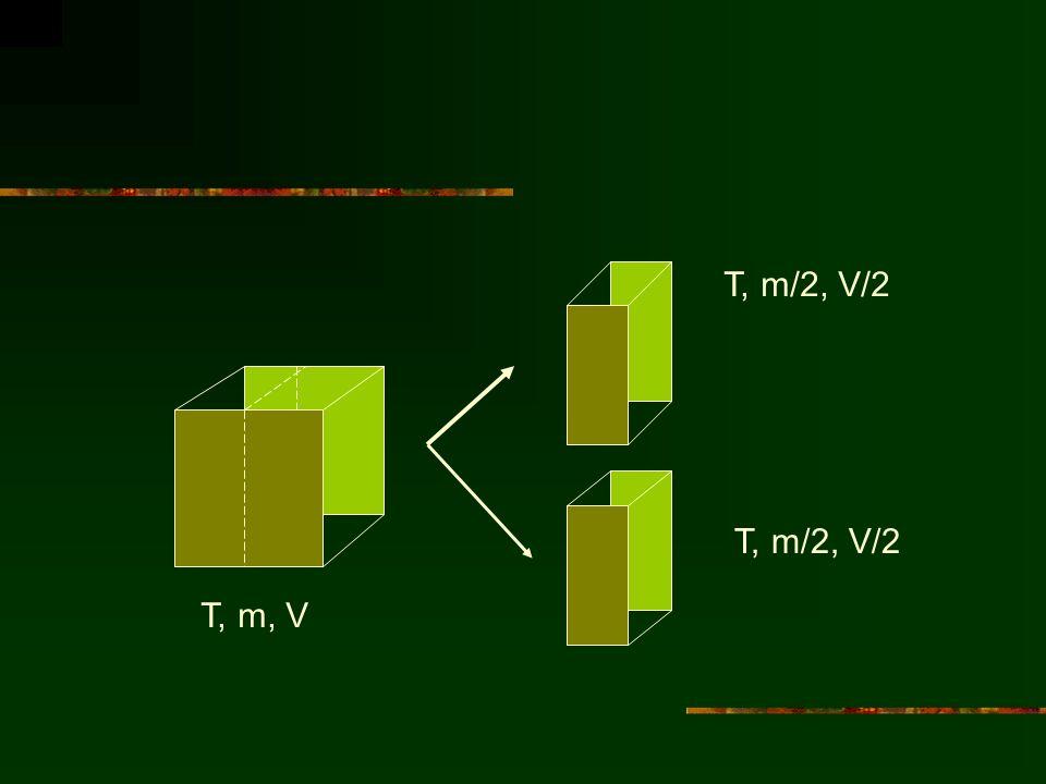 T, m/2, V/2 T, m, V