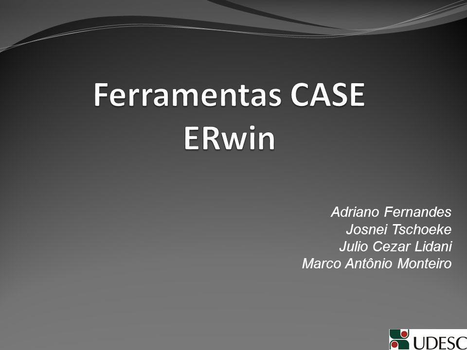 Introdução O Erwin é uma ferramenta CASE para a modelagem de banco de dados através do modelo ER (Entidade-Relacionamento).