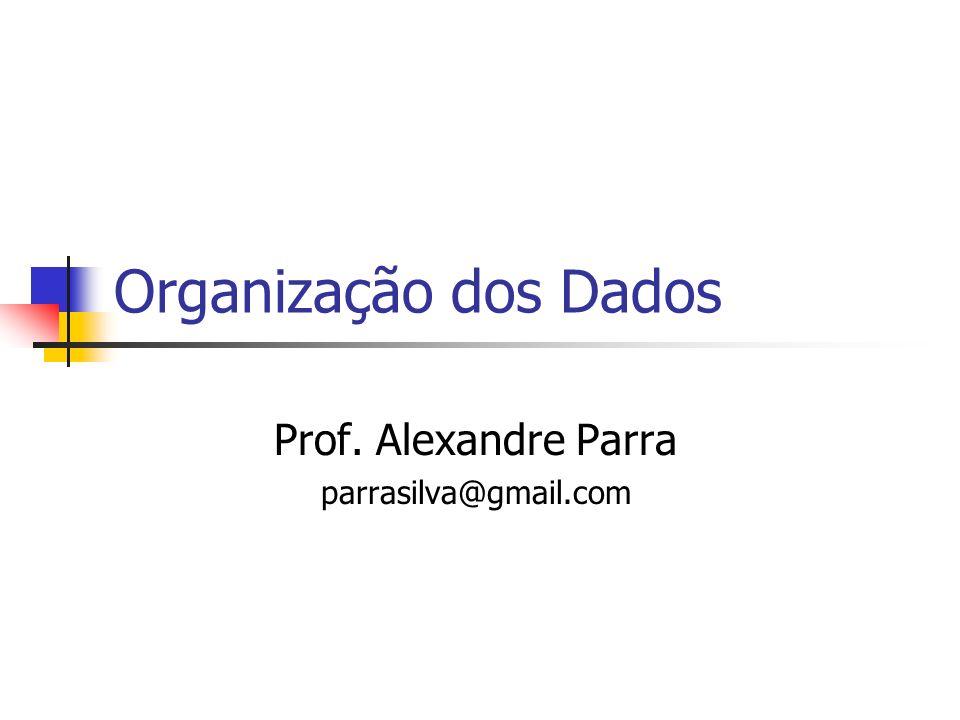 Organização dos Dados Prof. Alexandre Parra parrasilva@gmail.com