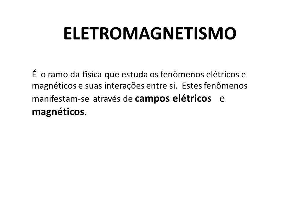 ELETROMAGNETISMO É o ramo da física que estuda os fenômenos elétricos e magnéticos e suas interações entre si. Estes fenômenos manifestam-se através d