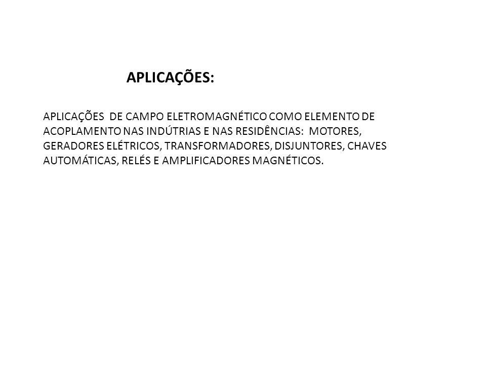 APLICAÇÕES DE CAMPO ELETROMAGNÉTICO COMO ELEMENTO DE ACOPLAMENTO NAS INDÚTRIAS E NAS RESIDÊNCIAS: MOTORES, GERADORES ELÉTRICOS, TRANSFORMADORES, DISJU