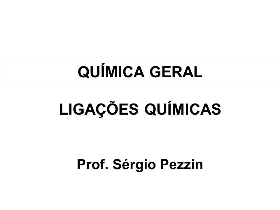 QUÍMICA GERAL LIGAÇÕES QUÍMICAS Prof. Sérgio Pezzin