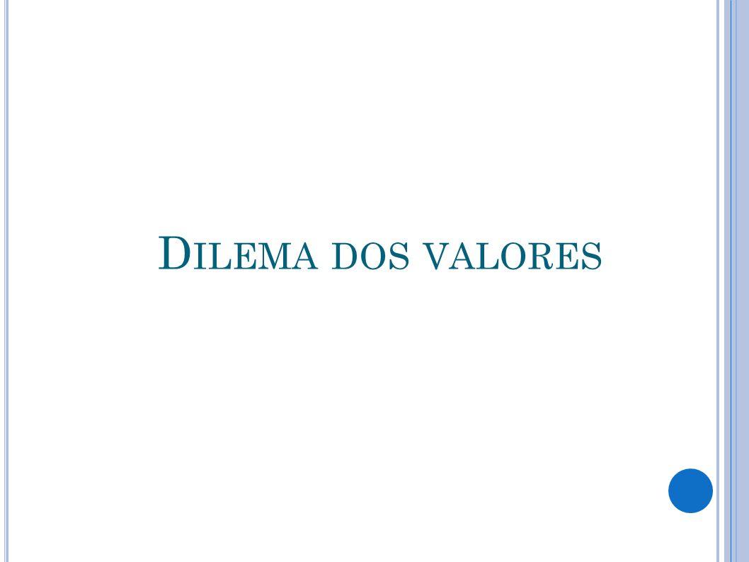 D ILEMA DOS VALORES
