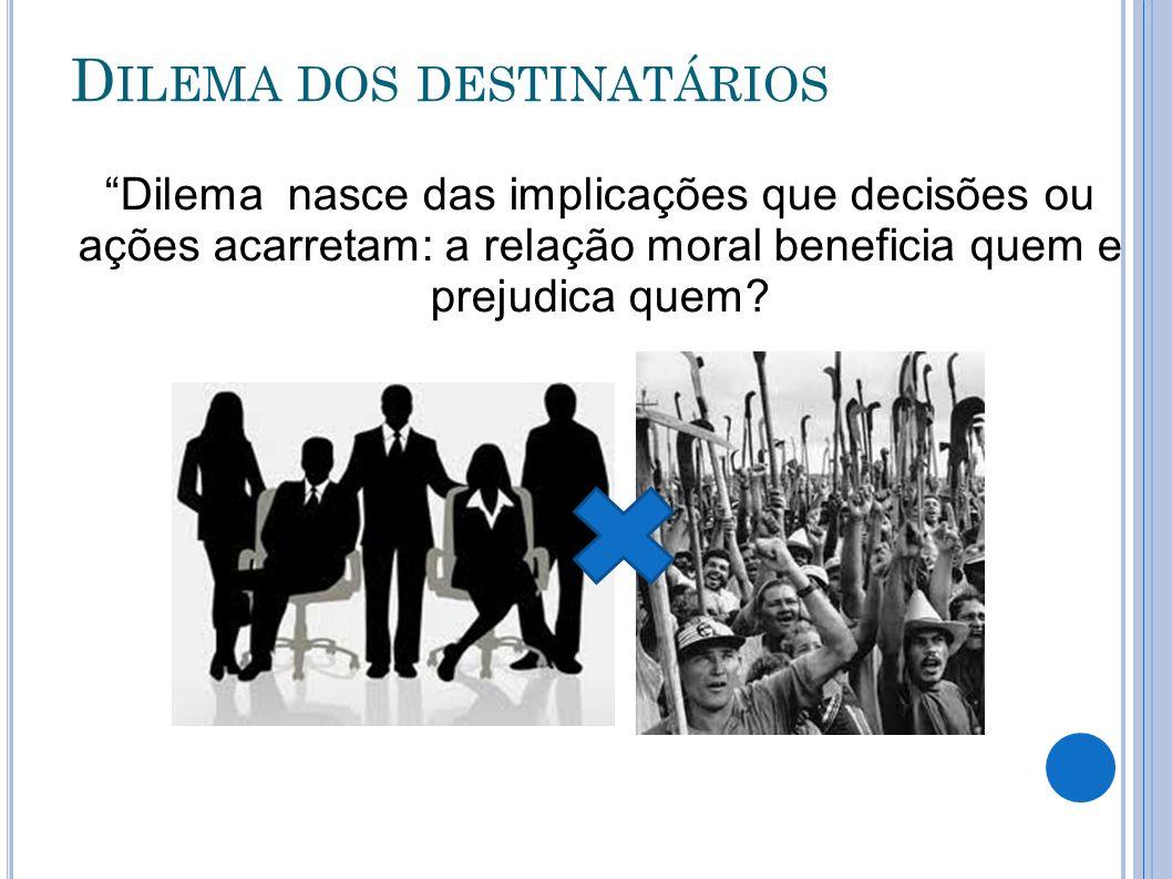 Dilema nasce das implicações que decisões ou ações acarretam: a relação moral beneficia quem e prejudica quem?