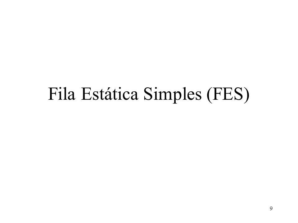 9 Fila Estática Simples (FES)