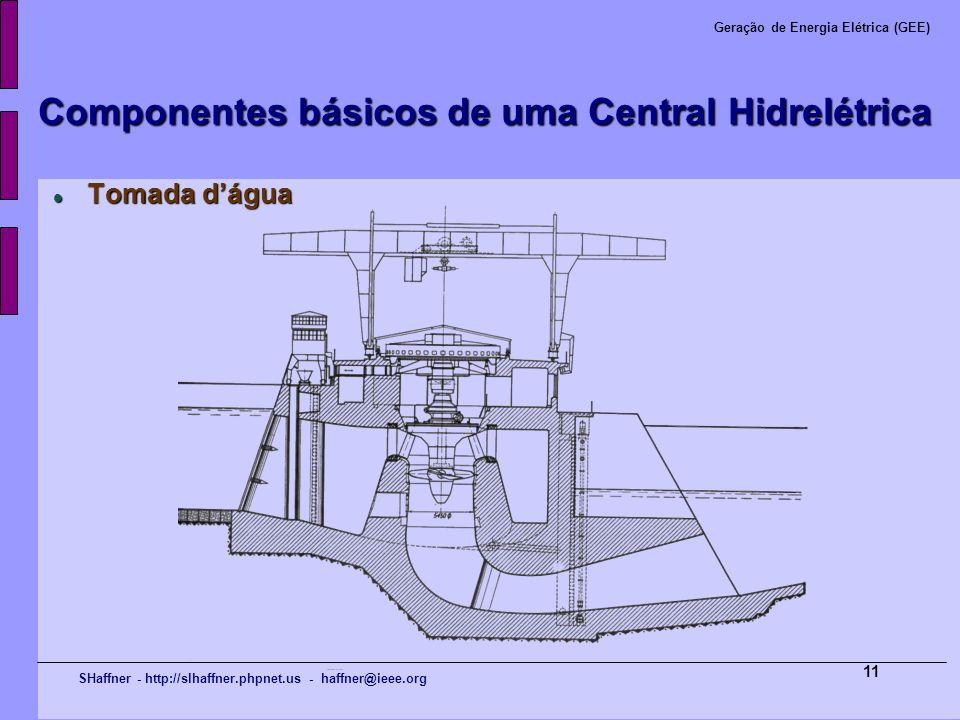 SHaffner - http://slhaffner.phpnet.us - haffner@ieee.org Geração de Energia Elétrica (GEE) 11 Componentes básicos de uma Central Hidrelétrica Tomada d