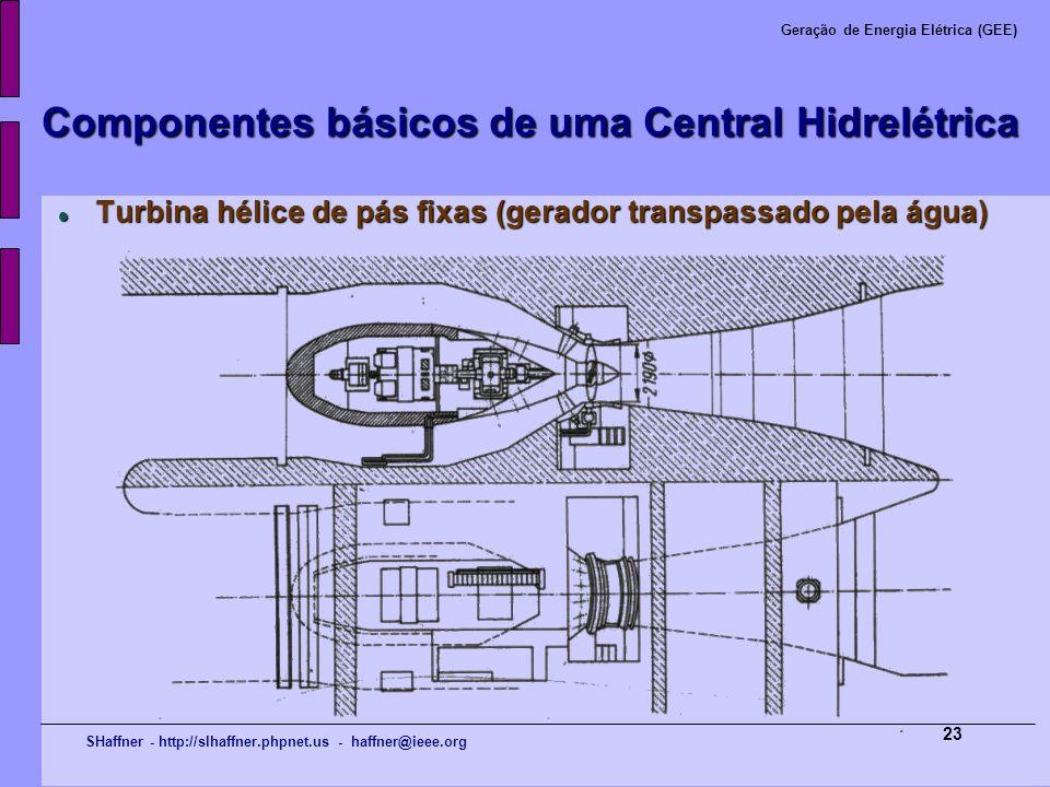SHaffner - http://slhaffner.phpnet.us - haffner@ieee.org Geração de Energia Elétrica (GEE) 23 Componentes básicos de uma Central Hidrelétrica Turbina