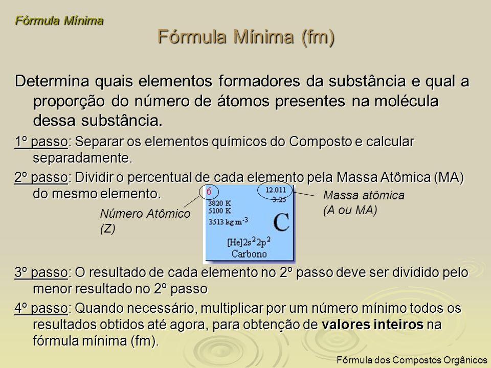Exemplo GUIA 1º passo: Separar os elementos químicos do Composto e calcular separadamente.