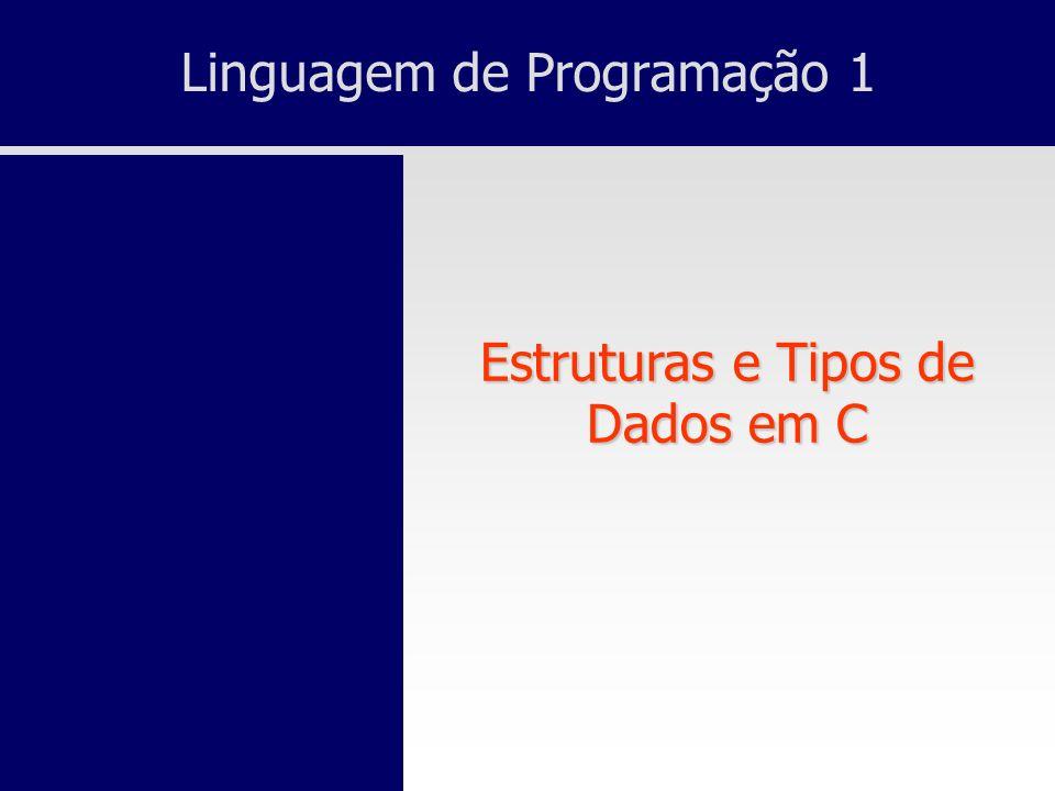Linguagem de Programação 1 Estruturas e Tipos de Dados em C