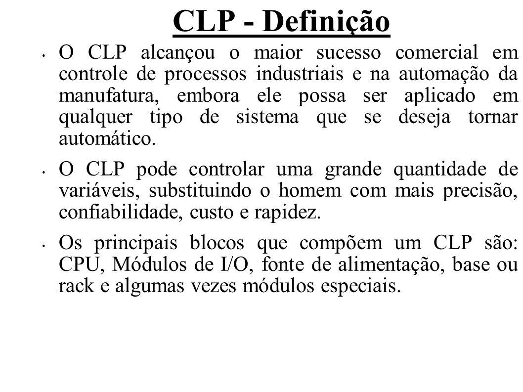 O CLP alcançou o maior sucesso comercial em controle de processos industriais e na automação da manufatura, embora ele possa ser aplicado em qualquer