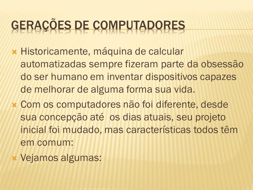 Historicamente, máquina de calcular automatizadas sempre fizeram parte da obsessão do ser humano em inventar dispositivos capazes de melhorar de algum