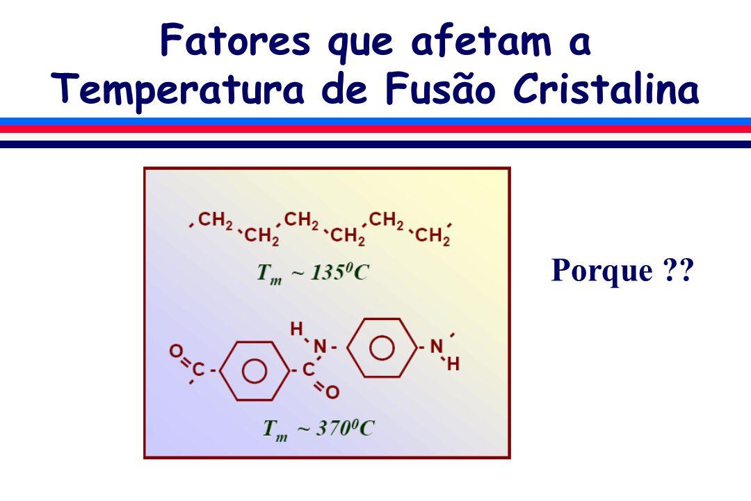 Fatores que afetam a Temperatura de Fusão Cristalina Porque ??