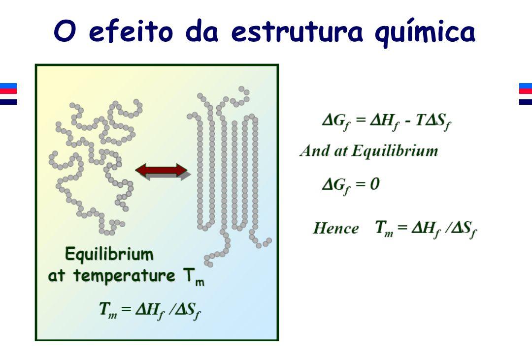 O efeito da estrutura química