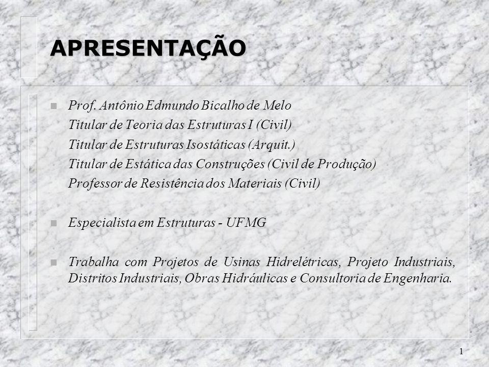 1 APRESENTAÇÃO n Prof.