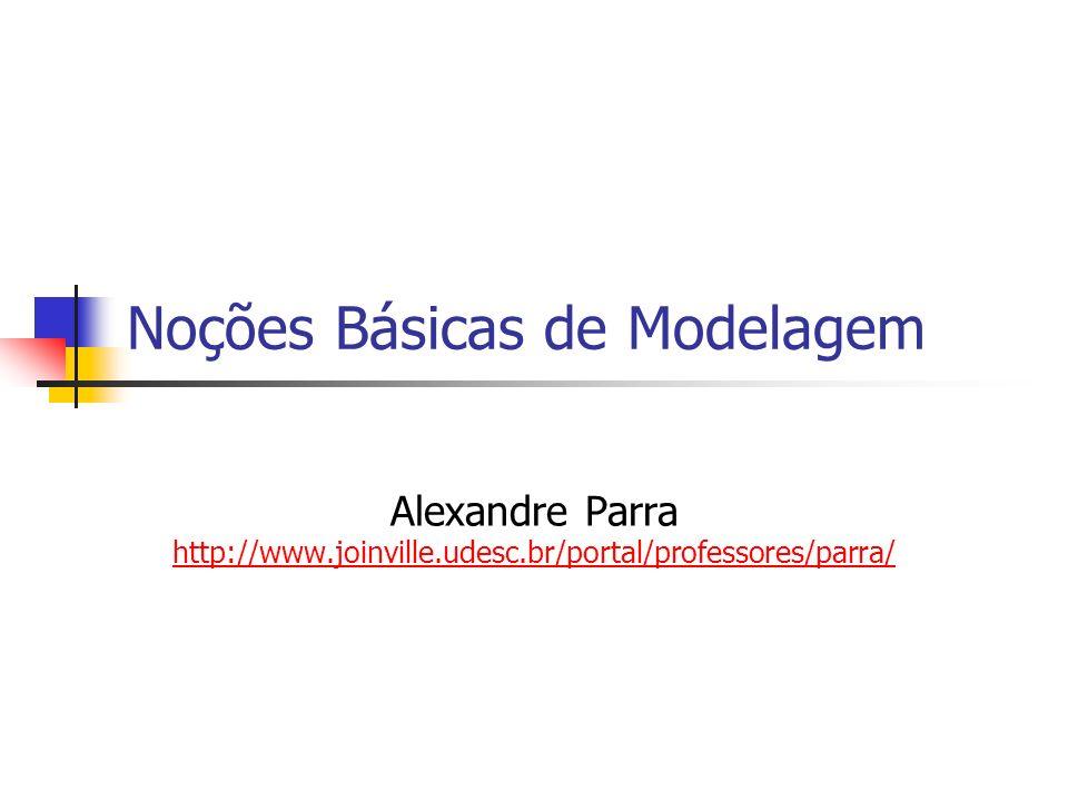 Noções Básicas de Modelagem Alexandre Parra http://www.joinville.udesc.br/portal/professores/parra/ http://www.joinville.udesc.br/portal/professores/p