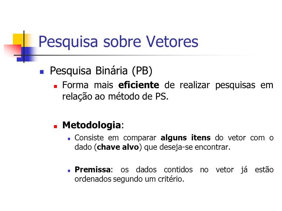 Pesquisa sobre Vetores Metodologia (Cont...): Passos do processo: 1) Checar onde está o ponto médio do vetor.