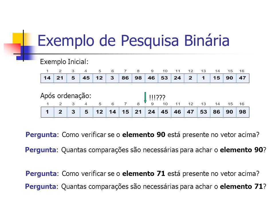 Ilustração de pesquisa usando PB (n-7)/8 1 (n-7)/8 (n-3)/4 1 (n-3)/4 n (n-1)/2 1.....