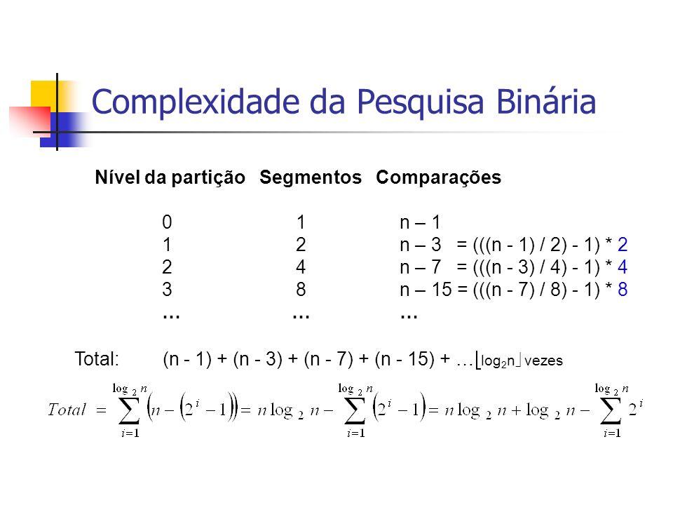 Análise de Complexidade da PB (3/3) Soma dos termos de uma PG