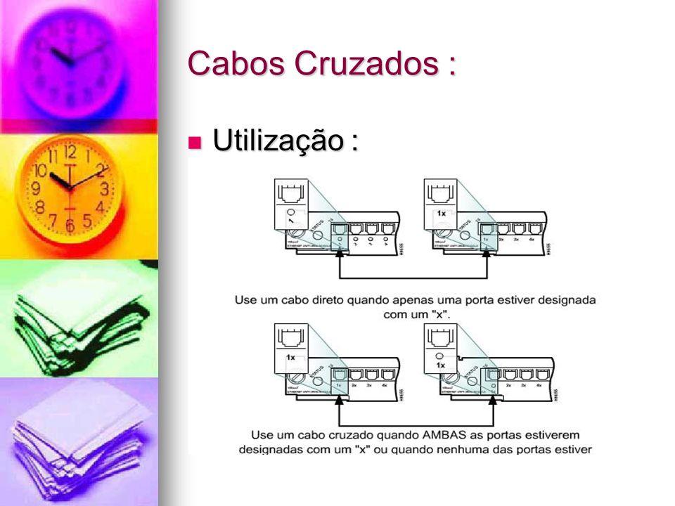 Cabos Cruzados : Utilização : Utilização :