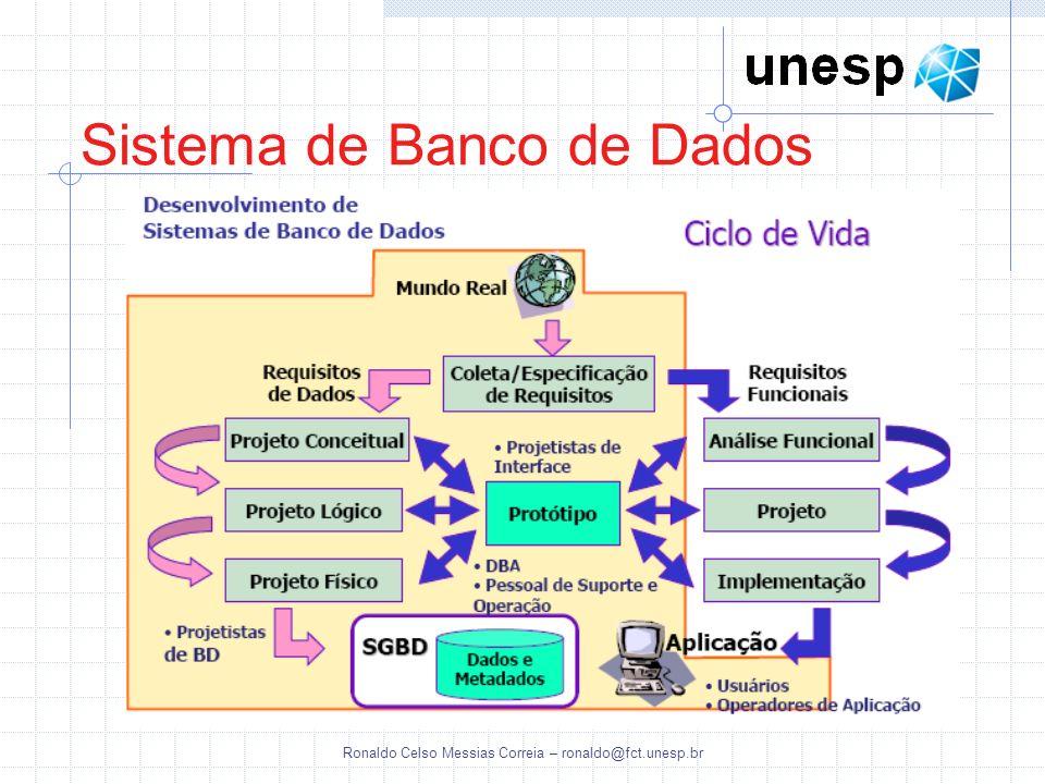 Ronaldo Celso Messias Correia – ronaldo@fct.unesp.br Sistema de Banco de Dados