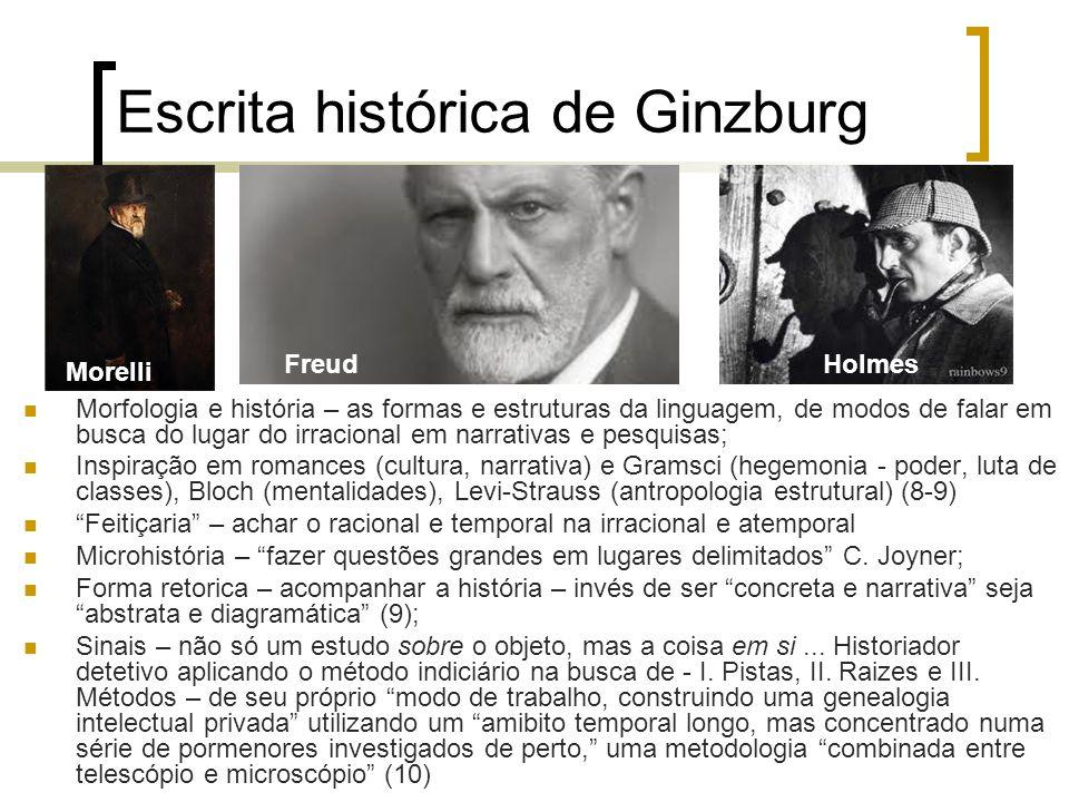 Escrita histórica de Ginzburg Morfologia e história – as formas e estruturas da linguagem, de modos de falar em busca do lugar do irracional em narrat