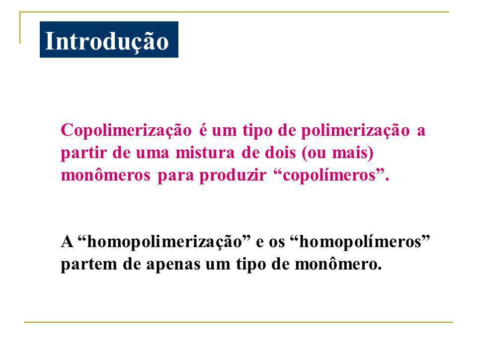 Importância da copolimerização Uma importante técnica de modificação de polímeros.