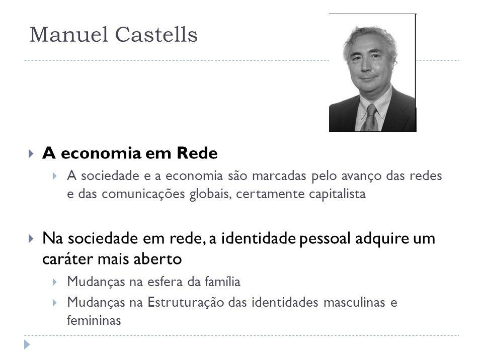 Manuel Castells A economia em Rede A sociedade e a economia são marcadas pelo avanço das redes e das comunicações globais, certamente capitalista Na s