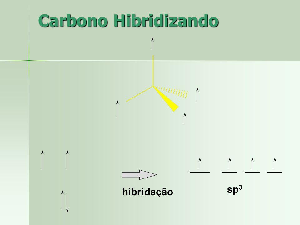 Metano Fórmula molecular do metano: CH4 - Lembrando, 4 ligações simples sp 3 ( 4 orbitais híbridos). Hidrogênio possui 1s orbital não hibridizado. Fór