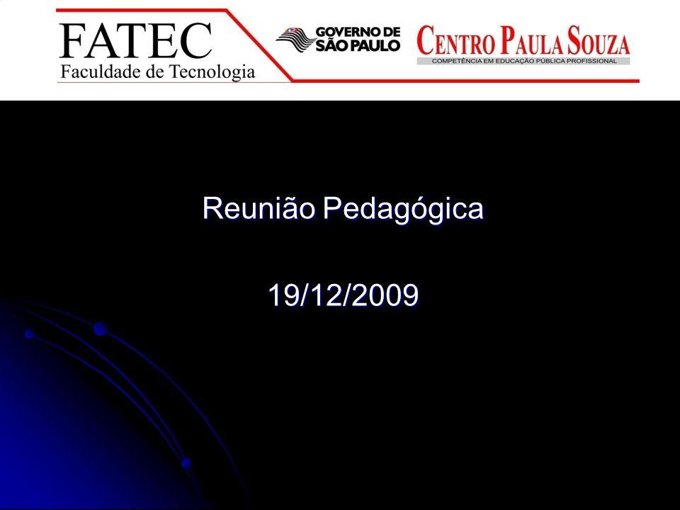 Reunião Pedagógica 19/12/2009