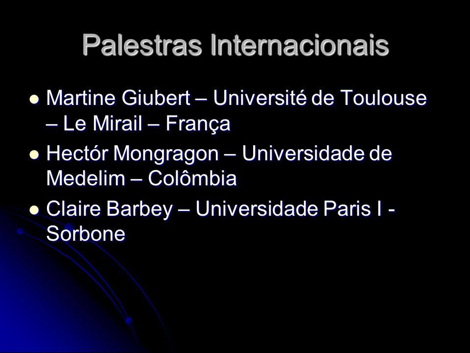 Palestras Internacionais Martine Giubert – Université de Toulouse – Le Mirail – França Martine Giubert – Université de Toulouse – Le Mirail – França H