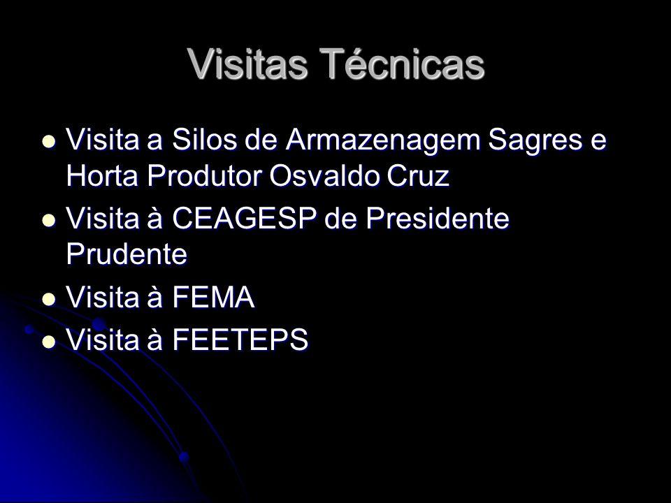Visitas Técnicas Visita a Silos de Armazenagem Sagres e Horta Produtor Osvaldo Cruz Visita a Silos de Armazenagem Sagres e Horta Produtor Osvaldo Cruz