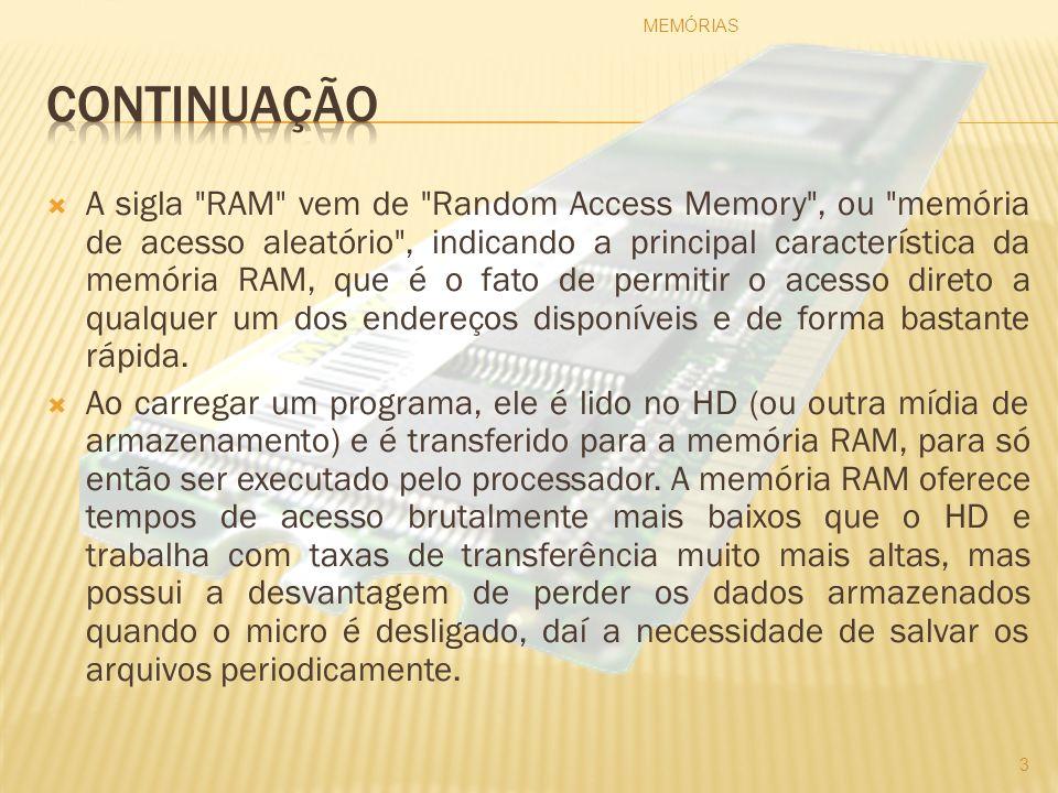 A figura abaixo demonstra o Circuito Integrado da Memória Rom: Figura: Memória ROM Fonte: http://www.clubedohardware.com.br/imageview.php?image=40 MEMÓRIAS 14