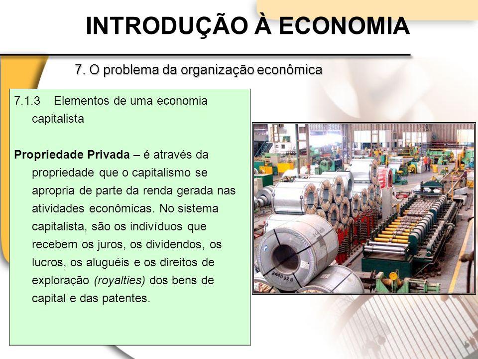INTRODUÇÃO À ECONOMIA 7.
